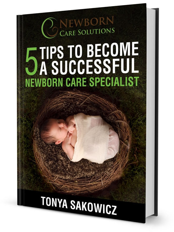book cover for 5 Tips to Become a Newborn Care Specialist